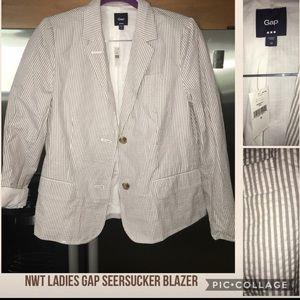 New Gap seersucker blazer